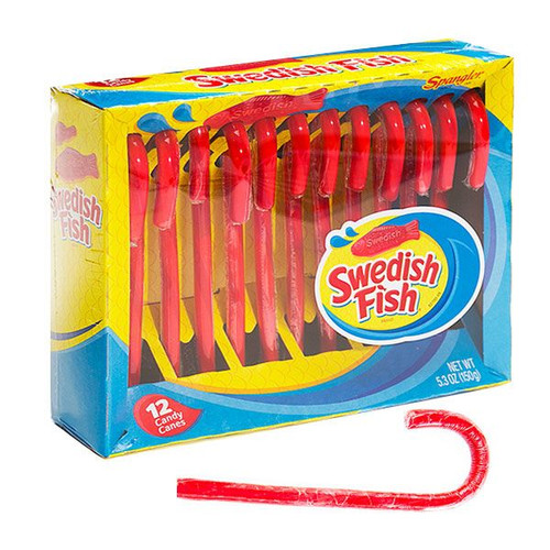 Swedish Red Fish Candy Canes 12 Count