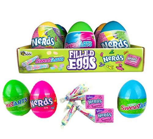Sweetart Nerds Filled Eggs 12 Count
