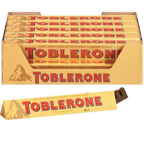 Toblerone Milk Chocolate Bars 3.5oz  20 Count