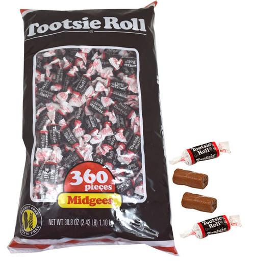 Chocolate Midgees Tootsie Rolls 360ct
