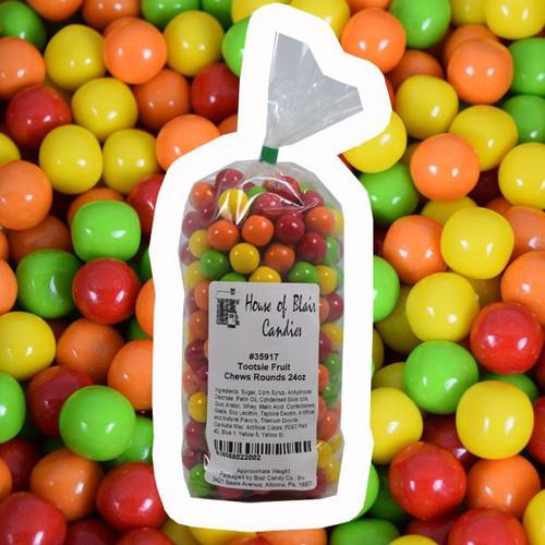 Tootsie Fruit Chew Rounds 24oz Bag