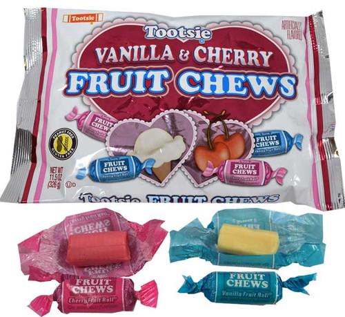 Tootsie Fruit Chews Valentine's Cherry & Vanilla 11.5oz