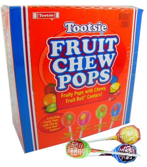 Tootsie Pops Fruit Chew Center Lollipops 48 Count