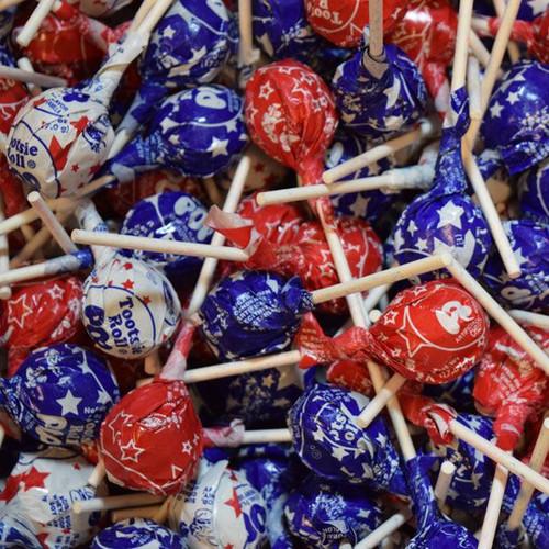 Tootsie Pops USA Patriotic Bulk 39lb Box