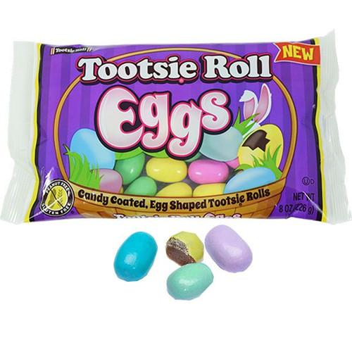 Tootsie Roll Candy Eggs 8oz Bag