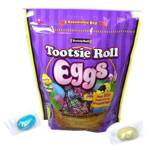 Tootsie Roll Eggs Wrapped 23oz Bag