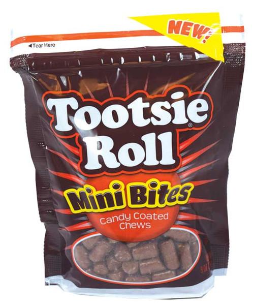 Tootsie Roll Mini Bites Candy Coated 9oz bag