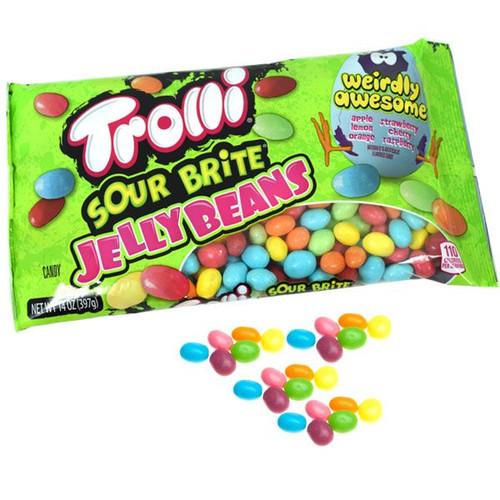 Trolli Sour Brite Jelly Beans 14oz Bag