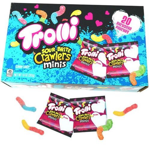 Trolli Valentine's Sour Brite Crawlers Mini  20 Packs