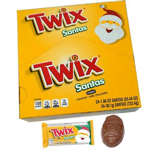 Twix Caramel Santas 24 Count