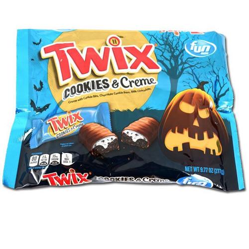 Twix Cookies & Cream Fun Size Halloween 9.77oz Bag