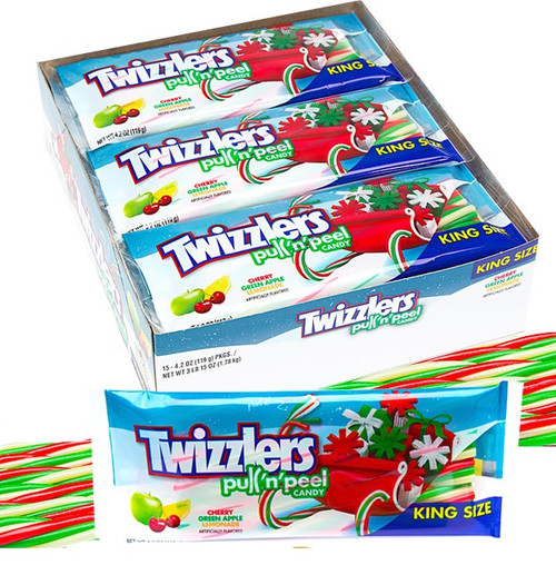 Twizzlers Christmas Pull & Peel King 15 Count