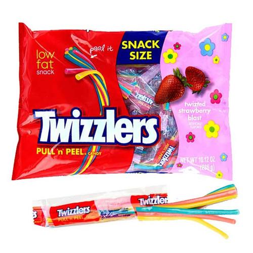 Twizzlers Pull 'n' Peel Licorice Strawberry Blast 10.12oz (24 Count)