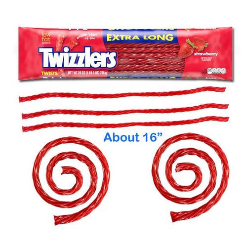 Twizzlers Extra Long Giant Strawberry Licorice 25oz