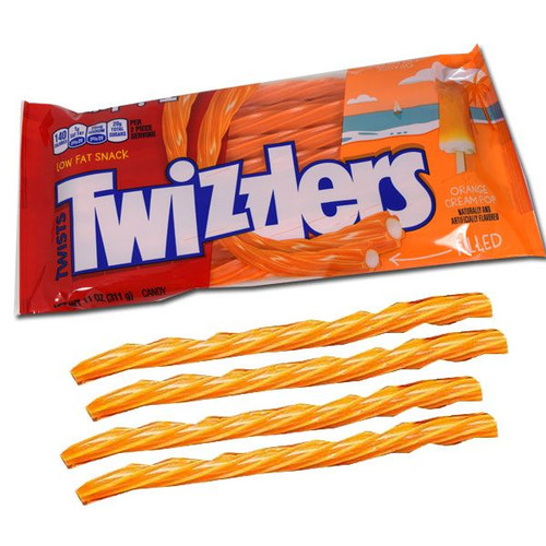 Twizzlers Orange Cream Licorice 11oz Bag
