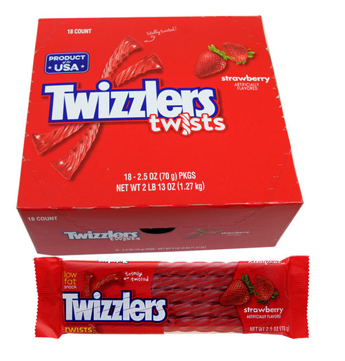 Twizzlers Licorice Strawberry Twists 18 Count