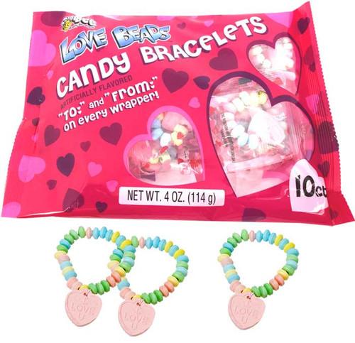 Valentine's Love Beads Candy Bracelets