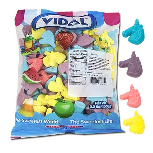 Vidal Gummi Unicorns 2.2lb Bulk