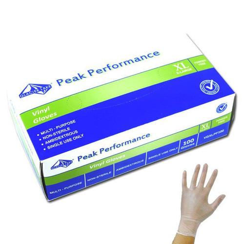 Vinyl Disposable Gloves Powder Free XL 100 Count