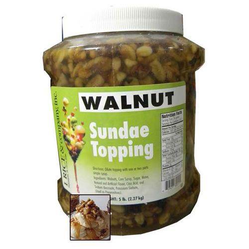 Walnut Sundae Topping  5lb Jar