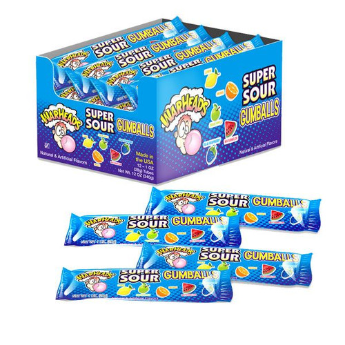 Warheads Super Sour Gumball 12 Count