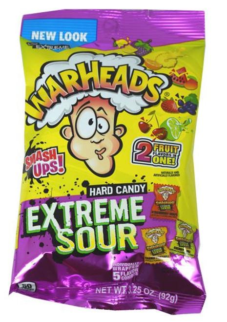 Warheads Sour Smash Ups 3.25oz Bag
