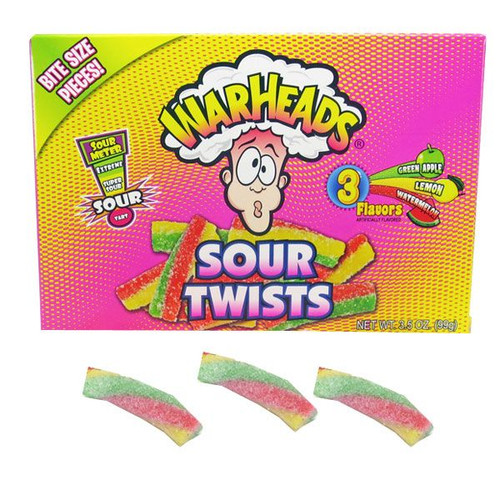 Warheads Sour Twists 3.5oz Box