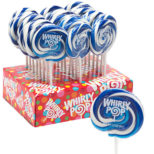 Whirly Pops Royal Blue & White 24 Count Adams & Brooks