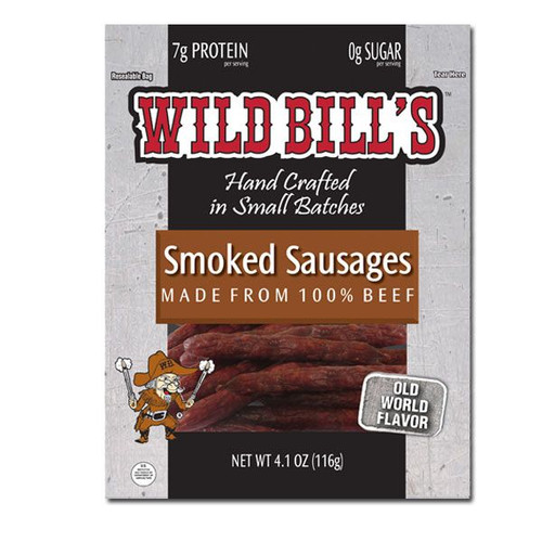 Wild Bills Smoked Sausage 4.1oz Bag