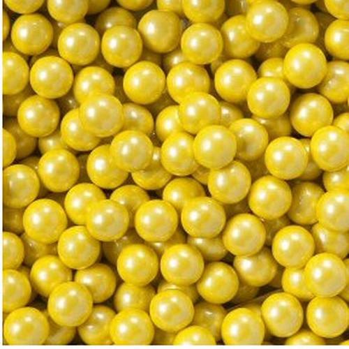 Shimmer Yellow Mini Candy Balls 2lb Bag Sixlets