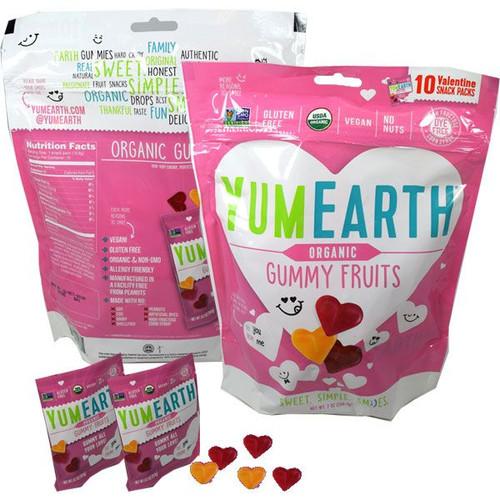 YumEarth Organic Valentines Heart Gummies 10 Packs