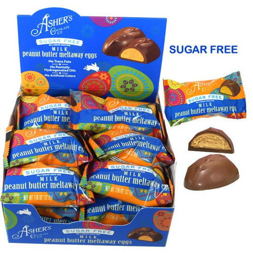 """Asher's """"Sugar Free"""" Peanut Butter Meltaway Eggs 18 Count"""