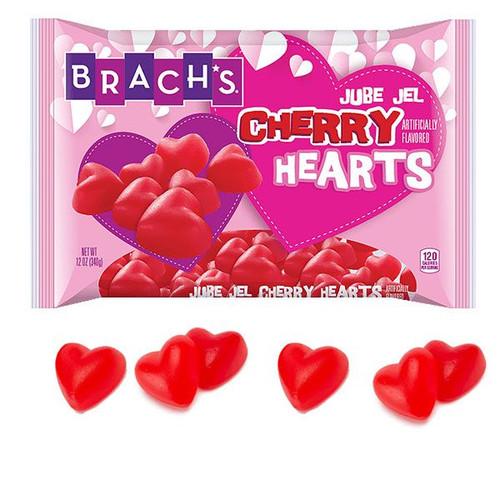 Brachs Cherry Jelly Hearts 12oz Bag