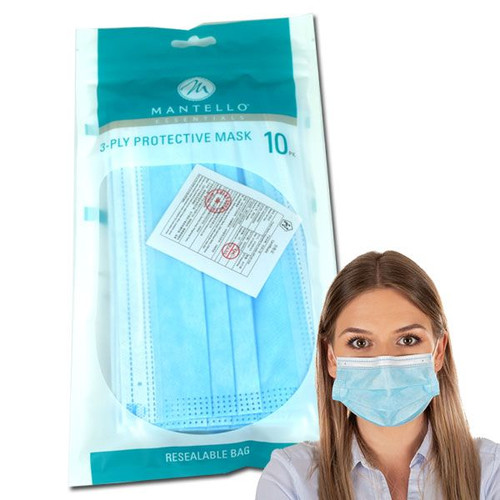Disposable Face Masks 3 PLY  10 Count