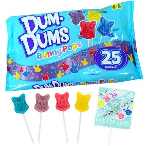 Dum Dum Bunny Pops 25 Count Bag