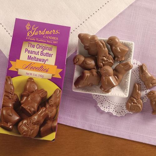 Gardner's Peanut Butter Meltaway Easter Shapes 5oz Box
