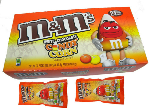 M&M Candy Corn 24 Count (White Chocolate)