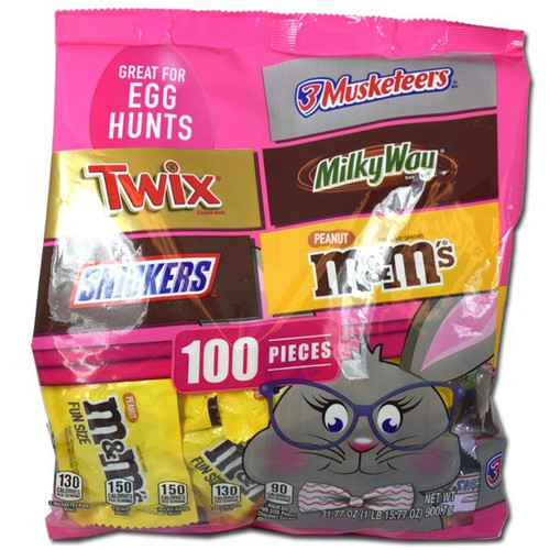 Mars Easter Candy Bar Assortment 100 Count