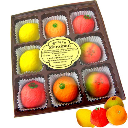 Bergen's Marzipan Fruit Candy 9 Count  4oz