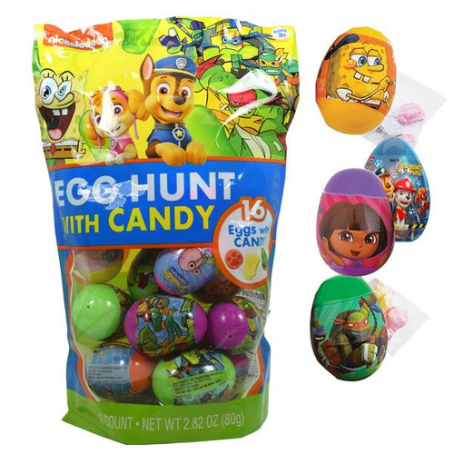Nickelodeon Eggs Filled With Candy 16 Count