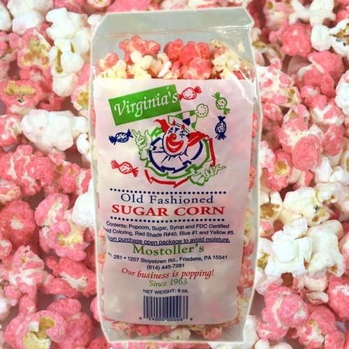 Old Fashion Sugar Popcorn Pink & White 6oz
