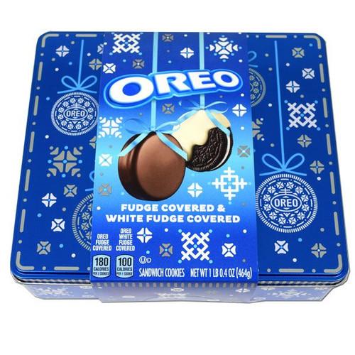 Oreo Assorted Fudge Covered In Tin 16.4oz