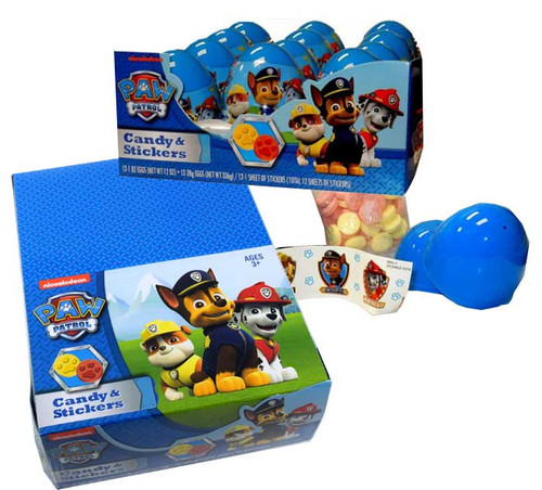 Paw Patrol Easter Candy Eggs 12 Count