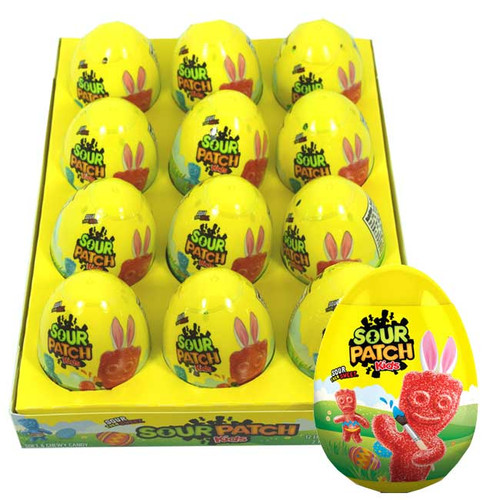 Sour Patch Kids Filled Eggs 12 Count