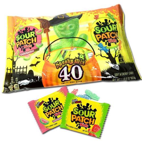 Sour Patch & Sour Watermelon Snack Size 40 Count