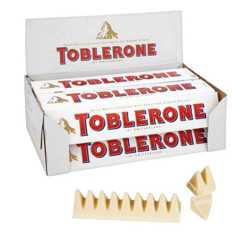 Toblerone White Chocolate 20 Count