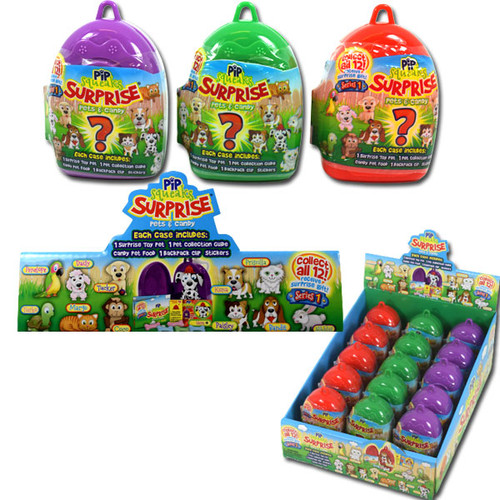 Pips Squeaks Surprise Candy Pet 15 Count