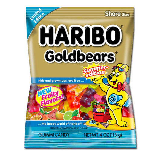 Haribo Summer Gold Bears 4oz (Fruity)