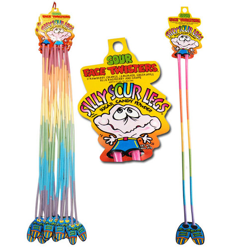 Silly Sour Legs Powder Candy 24 Count