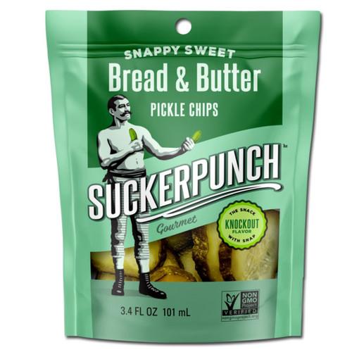 SuckerPunch Snappy Sweet Bread & Butter Pickle Chips 3.4oz